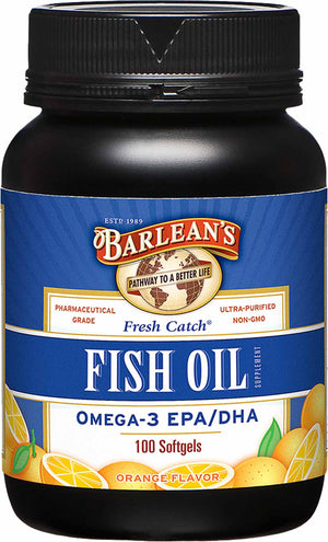 Barlean's Organic Oils Fresh Catch® Orange Flavor Fish Oil Softgels