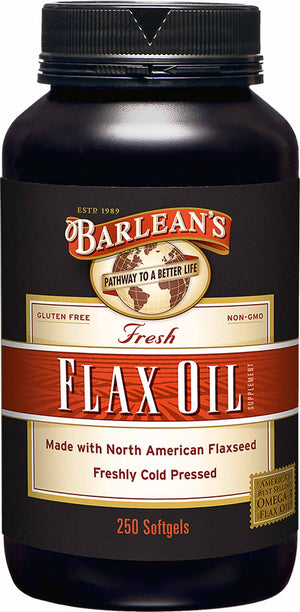 Barlean's Organic Oils Fresh Flax Oil Softgels