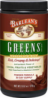 Barlean's Organic Oils Greens Chocolate Silk Powder