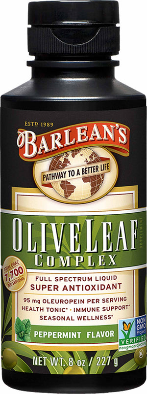 Barlean's Organic Oils Olive Leaf Complex Peppermint