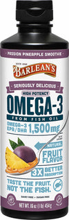Barlean's Organic Oils Seriously Delicious™ Omega-3 High Potency Fish Oil Passion Pineapple Smoothie