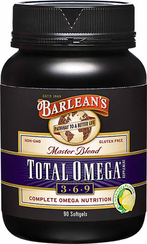 Barlean's Organic Oils Total Omega® 3-6-9 Lemonade Flavor Softgels