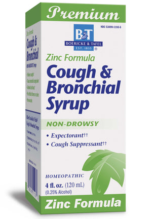 Boericke & Tafel Cough & Bronchial Syrup with Zinc