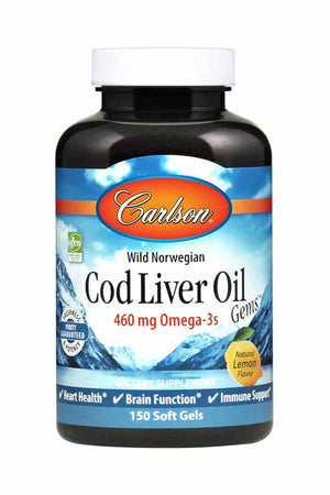 Carlson Labs Cod Liver Oil Gems™, Lightly Lemon