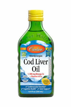 Carlson Labs Cod Liver Oil, Lemon
