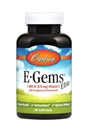 Carlson Labs E-Gems Elite 1,000 IU (670 mg)