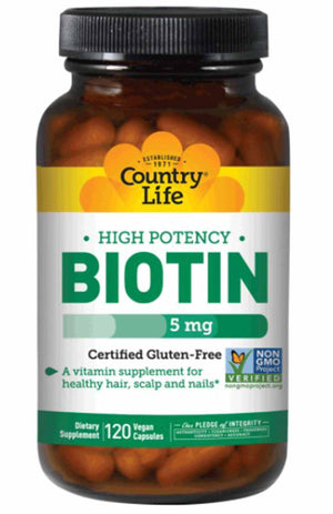 Country Life High Potency Biotin 5 mg