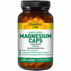 Country Life Magnesium Caps With Silica 300 mg