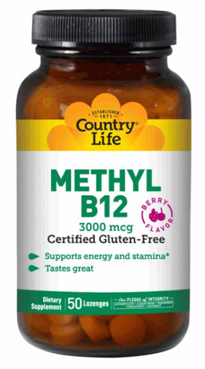 Country Life Methyl B-12 3000 mcg
