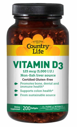 Country Life Vitamin D3 5000 IU