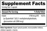 Designs for Health L-5-MTHF 1000 mcg Ingredients