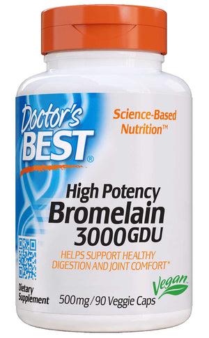 Doctor's Best 3000 GDU Bromelain 500 mg