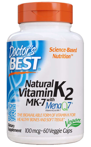 Doctor's Best Natural Vitamin K2 MK7 with MenaQ7 100mcg