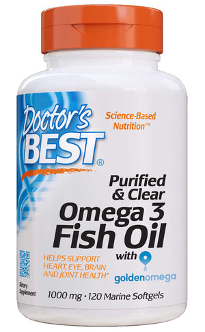 Doctor's Best Purified & Clear Omega 3 Fish Oil with Golden Omega