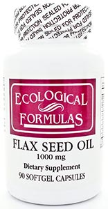 Ecological Formulas/Cardiovascular Research Organic FlaxSeed Oil 1000mg