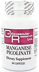Ecological Formulas/Cardiovascular Research Manganese Picolinate 20mg