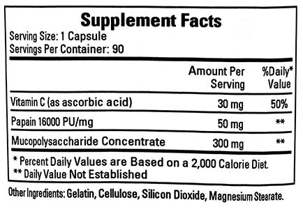 Ecological Formulas/Cardiovascular Research Mucopolysaccharide Concentrate
