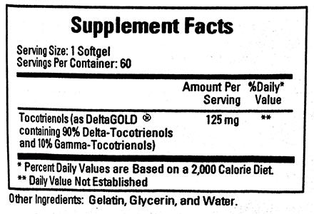 Ecological Formulas/Cardiovascular Research Annatto Tocotrienols 125mg