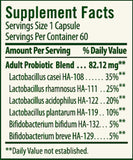 Flora Adult's Probiotic Ingredients