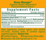 Herb Pharm Stress Manager Ingredients