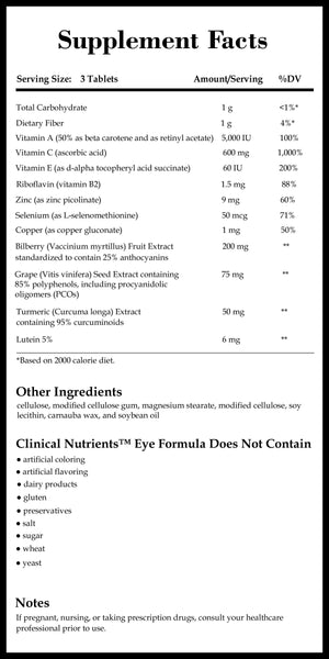 Integrative Therapeutics Clinical Nutrients Eye Formula