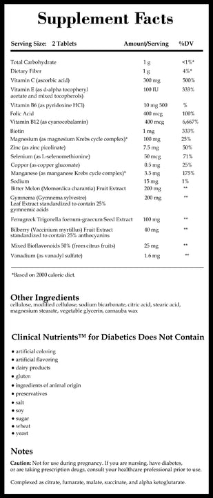 Integrative Therapeutics Clinical Nutrients for Diabetics