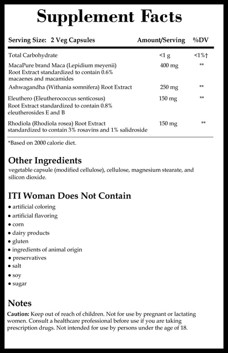 Integrative Therapeutics ITI Woman