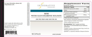 Integrative Therapeutics MSM with Glucosamine Sulfate