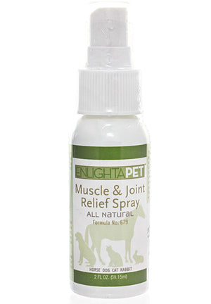Jadience Herbal Formulas EnlightAPet Muscle and Joint Pain Relief Spray All Natural