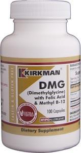 Kirkman DMG (Dimethylglycine) with Folic Acid & Methyl B-12