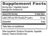 MaxiVision Lutein Formula Ingredients