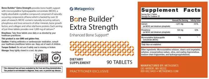 Metagenics Bone Builder Extra Strength