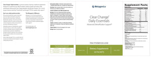 Metagenics Clear Change Daily Essentials