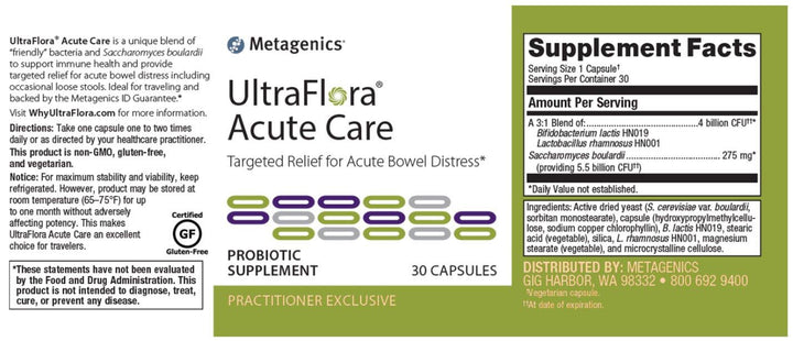 Metagenics UltraFlora Acute Care
