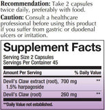 Nature's Way Devil's Claw (Premium Extract) Ingredients