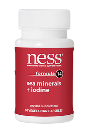 Ness Enzymes Sea Minerals w/Iodine 14