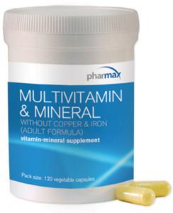 Pharmax Multivitamin & Mineral without Copper & Iron