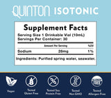 Quicksilver Scientific Original Quinton Isotonic 30 Amps