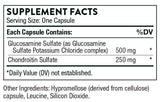 Thorne Research Glucosamine & Chondroitin Ingredients