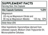 Thorne Research Magnesium CitraMate Ingredients