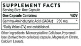 Thorne Research PharmaGABA Ingredients