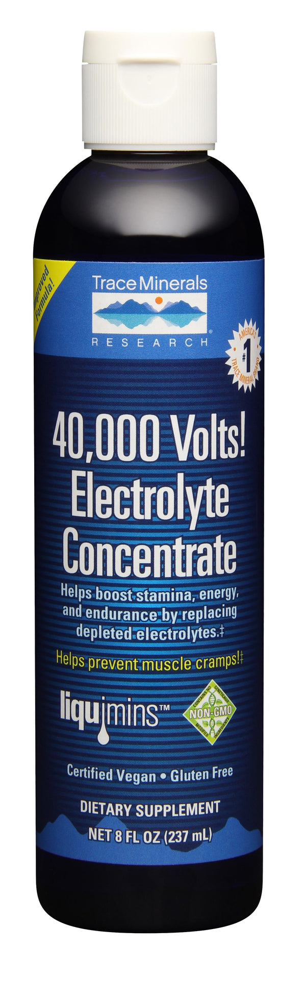 Trace Minerals Research 40,000 Volts! Electrolyte Concentrate