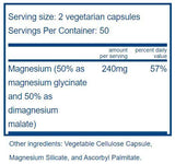 Vital Nutrients Magnesium (glycinate/malate) Ingredients