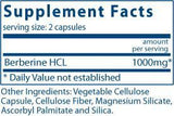 Vital Nutrients Berberine 500mg Ingredients