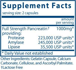 Vital Nutrients Pancreatic Enzymes