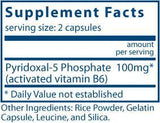 Vital Nutrients Pyridoxal 5' Phosphate Ingredients