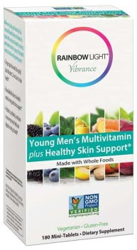 Rainbow Light Vibrance Young Men's Multivitamin plus Healthy Skin Support