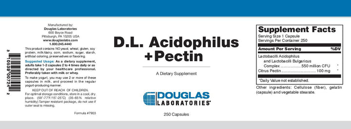 Douglas Laboratories D.L. Acidophilus + Pectin