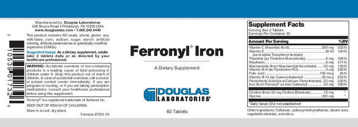 Douglas Laboratories Ferronyl Iron