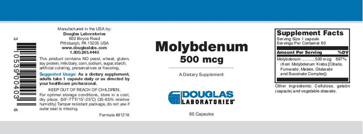 Douglas Laboratories Molybdenum